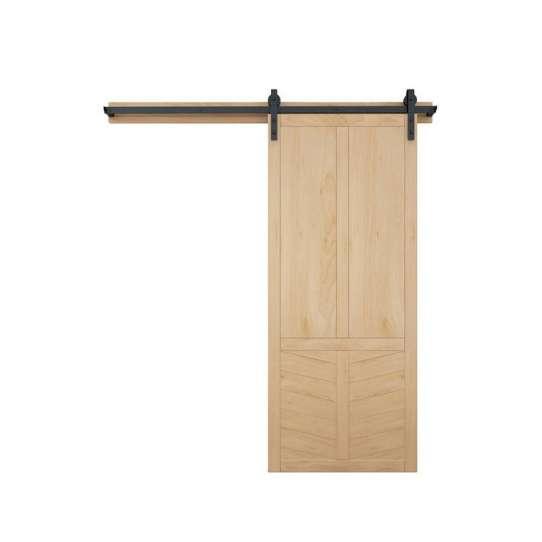 WDMA New Design Wood Doors Sliding Barn Door Hidden Pocket Wooden Doors