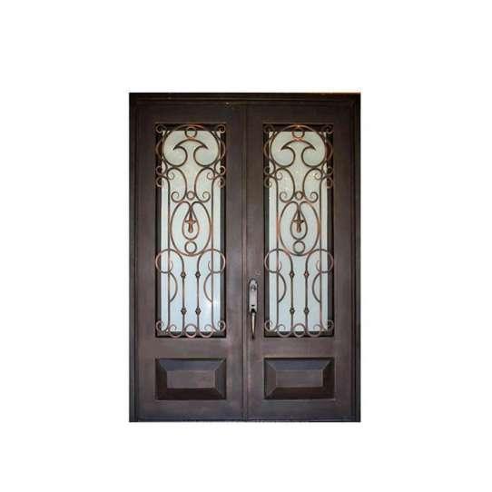 WDMA New Outdoor Double Wrought Iron Grill Window Door Design