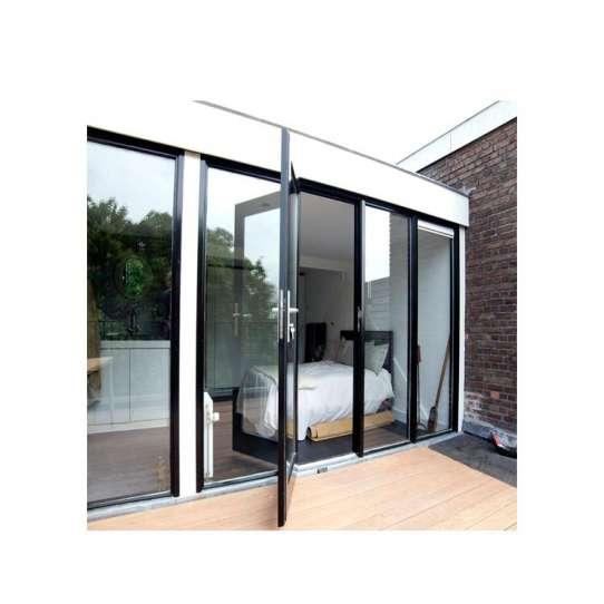 China WDMA Flush Door Design With Glass