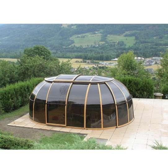 China WDMA Outdoor Glass Sunroom With Retractable Swimming Pool Glass Cover Enclosures Roof For Sale