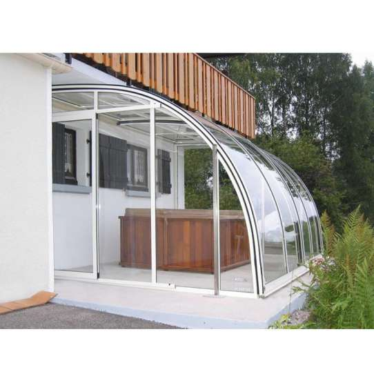 WDMA polycarbonate swimming pool cover Aluminum Sunroom