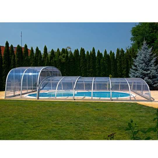 China WDMA polycarbonate swimming pool cover Aluminum Sunroom