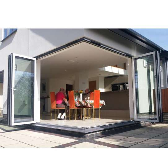 WDMA Portable Glass Accordion Bi Folding Glass Window Door Aluminum Room Dividers