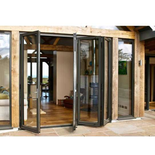 WDMA Glass Bi Folding Door