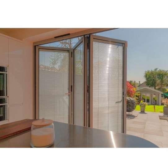 China WDMA Glass Bi Folding Door