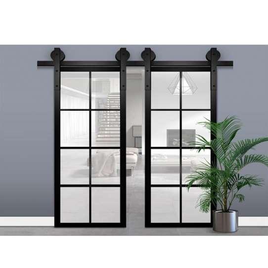 China WDMA Powder Coated Aluminum Sandblast Glass Sliding Door System For Bathroom
