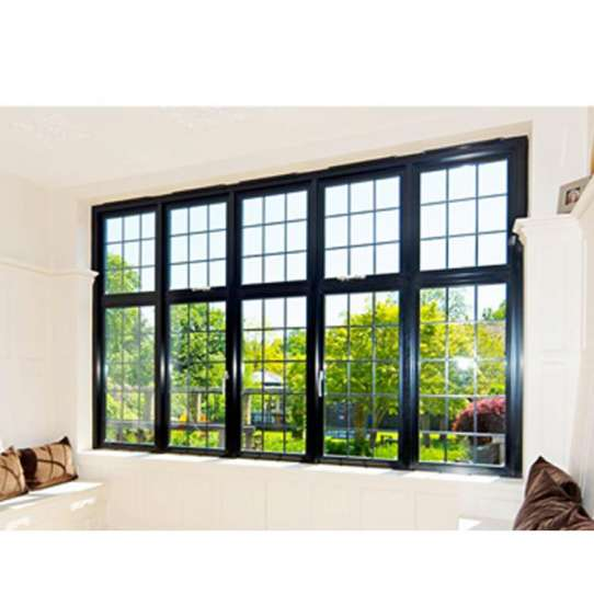 China WDMA Aluminum Clad Wood Window Blue