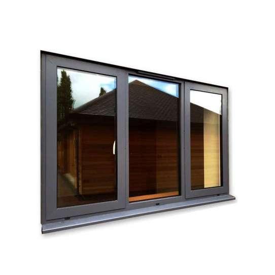 China WDMA Wood Texture Aluminum Window