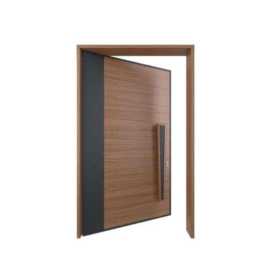 WDMA Prettywood Home Interior Door Pivot Wooden Glass Door