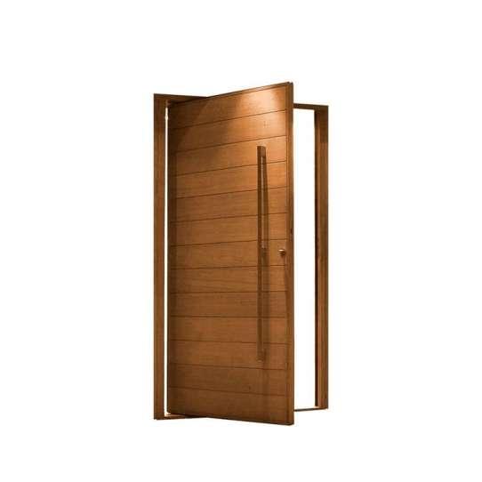 China WDMA Prettywood Home Interior Door Pivot Wooden Glass Door