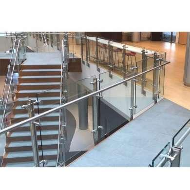 WDMA Price Meter Prefab White Staircase Wrought Iron Stair Railing Simple Design For Veranda