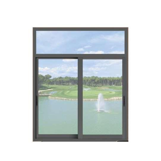 WDMA Price Of Ready Made Double Pane Exterior Aluminium Sliding Arch Window For Nigeria Market