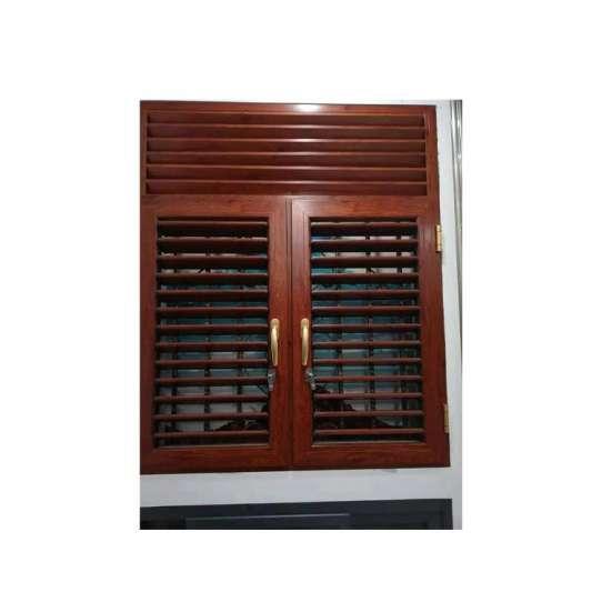 China WDMA Price Of Soundproof Aluminum Bathroom Fixed Louver Window