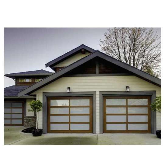 China WDMA Remote Control Electric Aluminum Glass Folding Bifold Garage Door For Sale