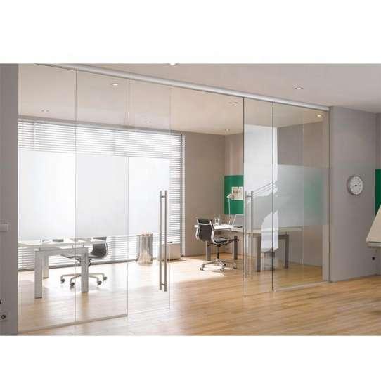 WDMA Retail Aluminum Folding Frameless Glass Sliding Door