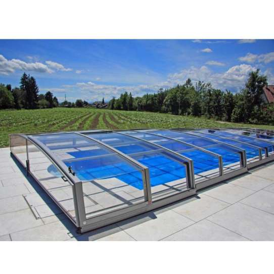 WDMA Retractable Aluminum Polycarbonate Swimming High Pool Cover Enclosures