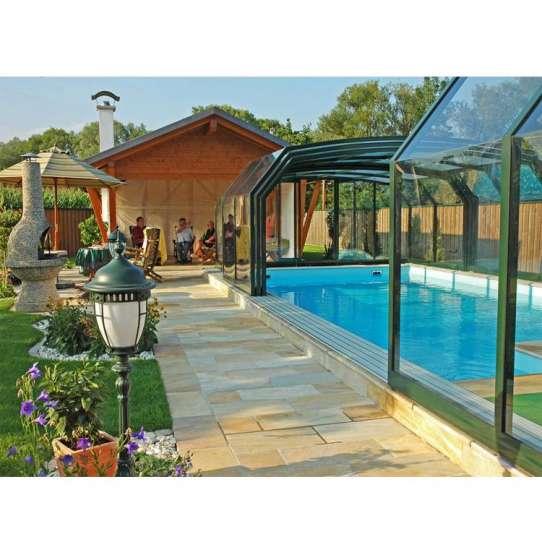 China WDMA glass pool cover Aluminum Sunroom