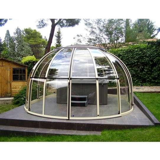 China WDMA Retractable Swimming Pool Dome Cover Hot Tub Cover Spa Dome Enclosure
