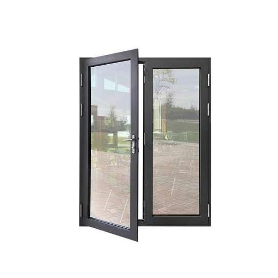 WDMA Shandong Aluminum Hinged Patio Doors Glass Swing Door Modern French Casement Doors Entry Doors