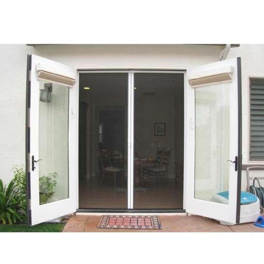 China WDMA Shandong Aluminum Hinged Patio Doors Glass Swing Door Modern French Casement Doors Entry Doors