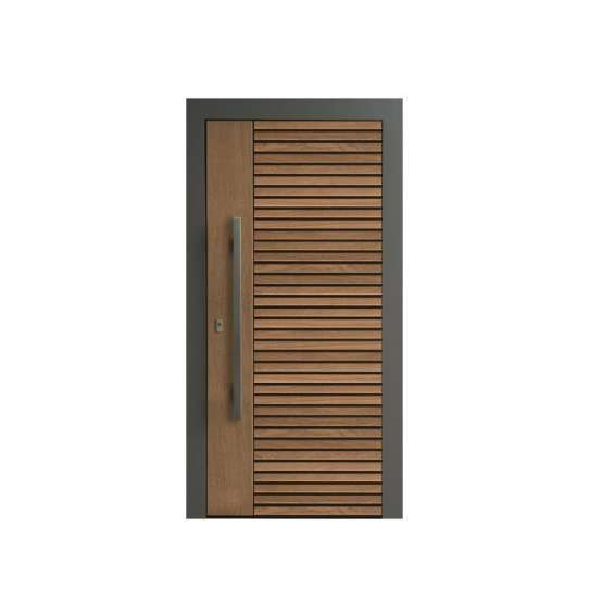 China WDMA Shandong Factory 360 Degrees Wood Pivot Door System With Hinges