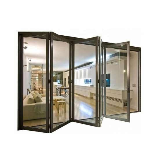 China WDMA Shandong Factory Cheap Price Of Standard Width Aluminum Glass Bi Folding Door