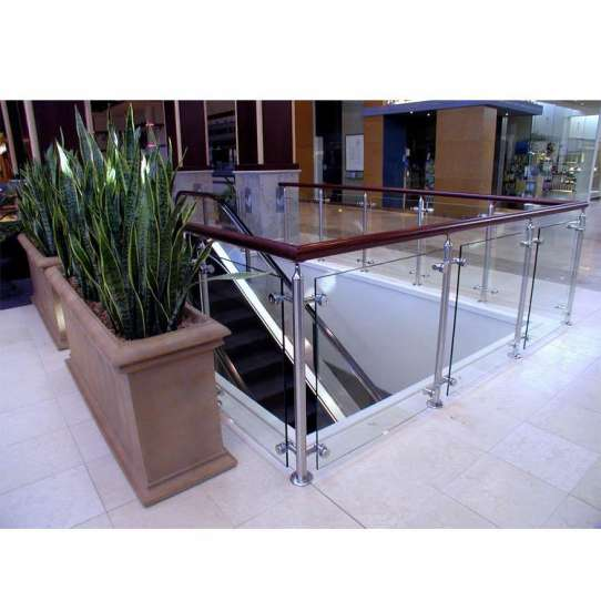 China WDMA Side Mounted Balcony 10mm Thick Frameless Tempered Glass Staircase Railing Design Price