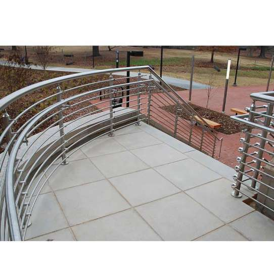 WDMA Side Mounted Galvanized Stainless Steel Stair Balcony Cable Railing Wire Rope Railing Balustrade Handrail System