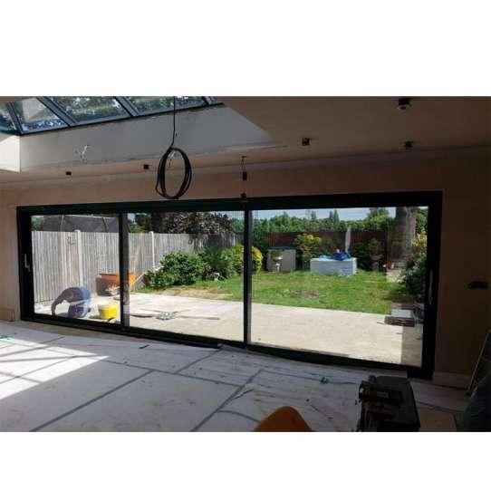 WDMA Sliding Open Style And Finished Surface Finishing Frameless Motorized And Electric Sliding Glass Door System