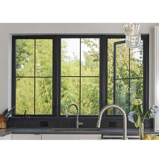 WDMA Slimline Aluminum Frame Casement Window With Grill Design