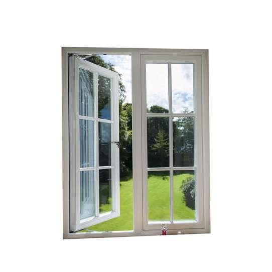 China WDMA Slimline Aluminum Frame Casement Window With Grill Design