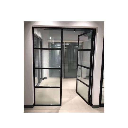 WDMA Soundproof And Unbreakable Aluminum Sandwich Panel Door Glass Classroom Window And Door Dubai For Exterior