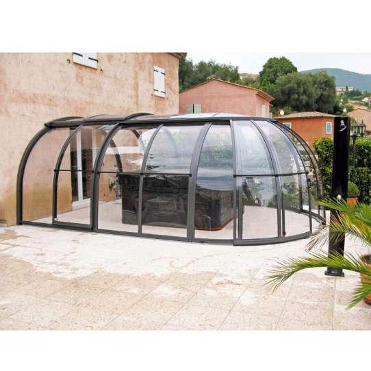 China WDMA Telescopic Pool Enclosures Aluminum Retractable Pergola Roof Awning