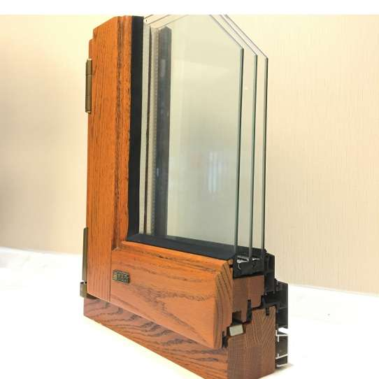 WDMA Usa Swing Open Style And Aluminium Frame Wood Window With Triple Tempered Glazed