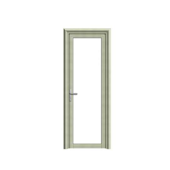 WDMA Waterproof Single Leaf Aluminum Interior Toilet Frosted Opaque Glass Door For Bathroom Shandong