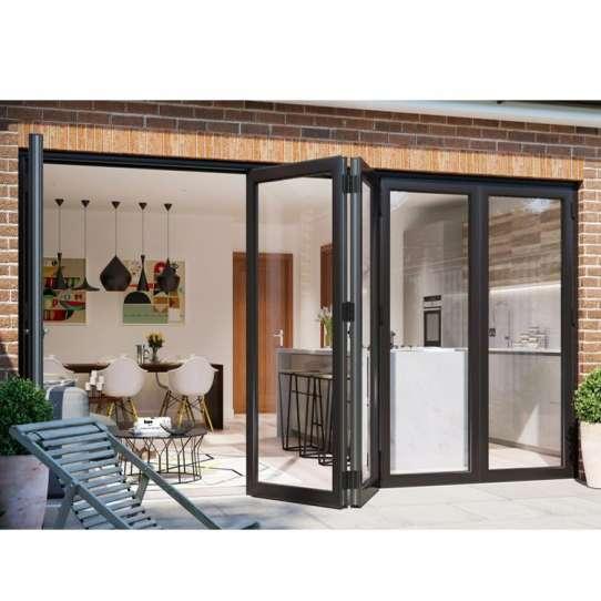 China WDMA Bi Fold Doors External Aluminium