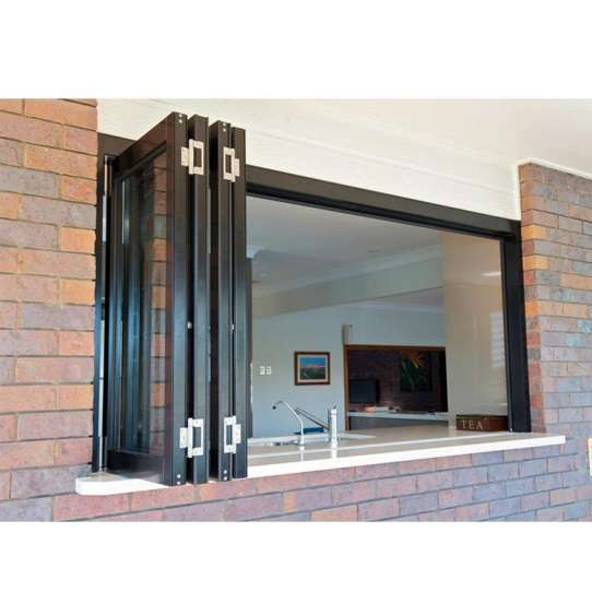China WDMA Wholesale Aluminium Residential Storefront Accordion Bi-folding Sliding Window Price