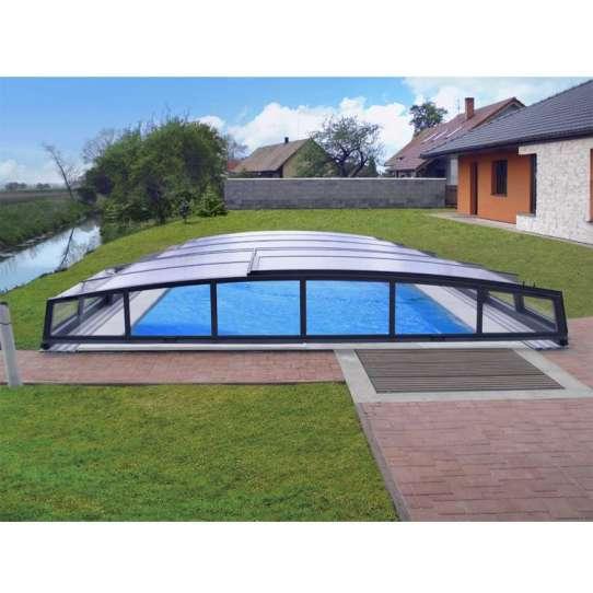 WDMA Wholesale Price Aluminium Waterproof Retractable Pool Roof Swimming Pool Cover