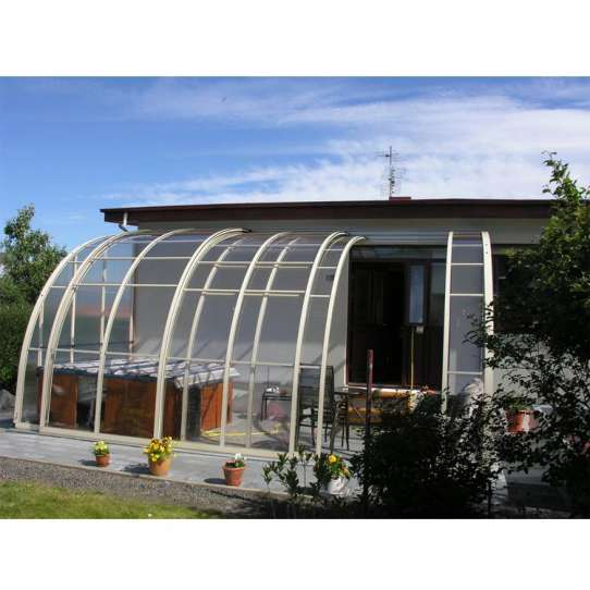 China WDMA Wholesale Price Aluminium Waterproof Retractable Pool Roof Swimming Pool Cover