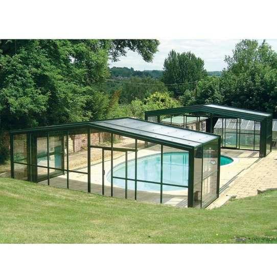 WDMA Wholesale Price Retractable Roof System Aluminum Sun Room Flat Enclosure