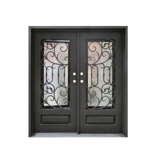 WDMA wrought iron entry door