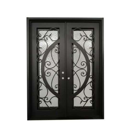 WDMA wrought iron entry door Steel Door Wrought Iron Door