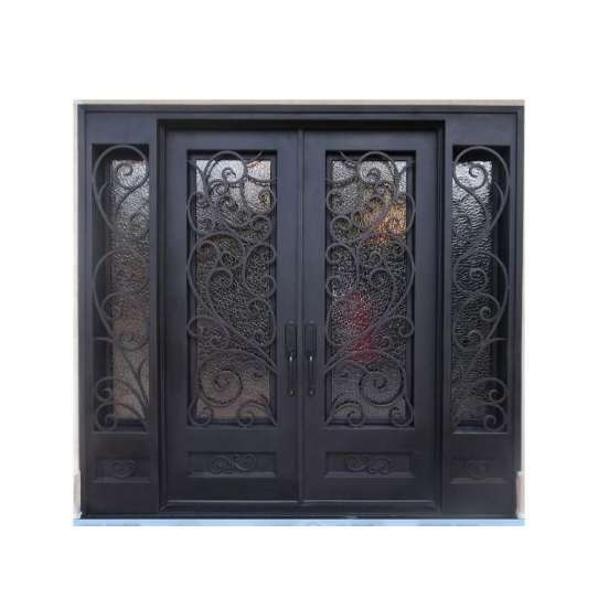 China WDMA Wrought Iron Entry Door Exterior Front Door Designs For House