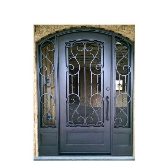 China WDMA wrought iron entry door