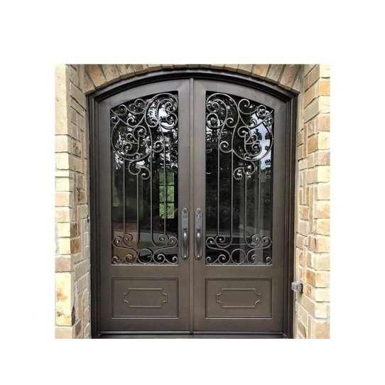 China WDMA wrought iron entry door Steel Door Wrought Iron Door