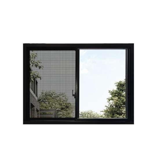 WDMA Zambia Powder Coating Aluminum Glass Sliding Window With Mosquito Net