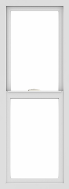 WDMA 18x48 (17.5 x 47.5 inch) Vinyl uPVC White Single Hung Double Hung Window without Grids Interior