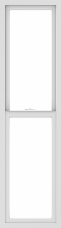 WDMA 18x66 (17.5 x 65.5 inch) Vinyl uPVC White Single Hung Double Hung Window without Grids Interior
