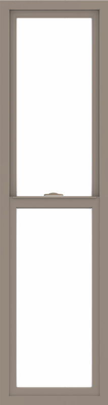 WDMA 18x66 (17.5 x 65.5 inch) Vinyl uPVC Brown Single Hung Double Hung Window without Grids Interior