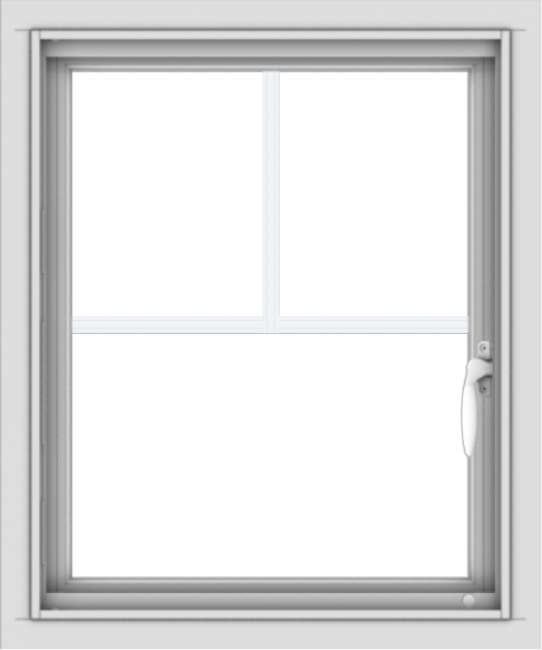WDMA 20x24 (19.5 x 23.5 inch) Vinyl uPVC White Push out Casement Window with Fractional Grilles